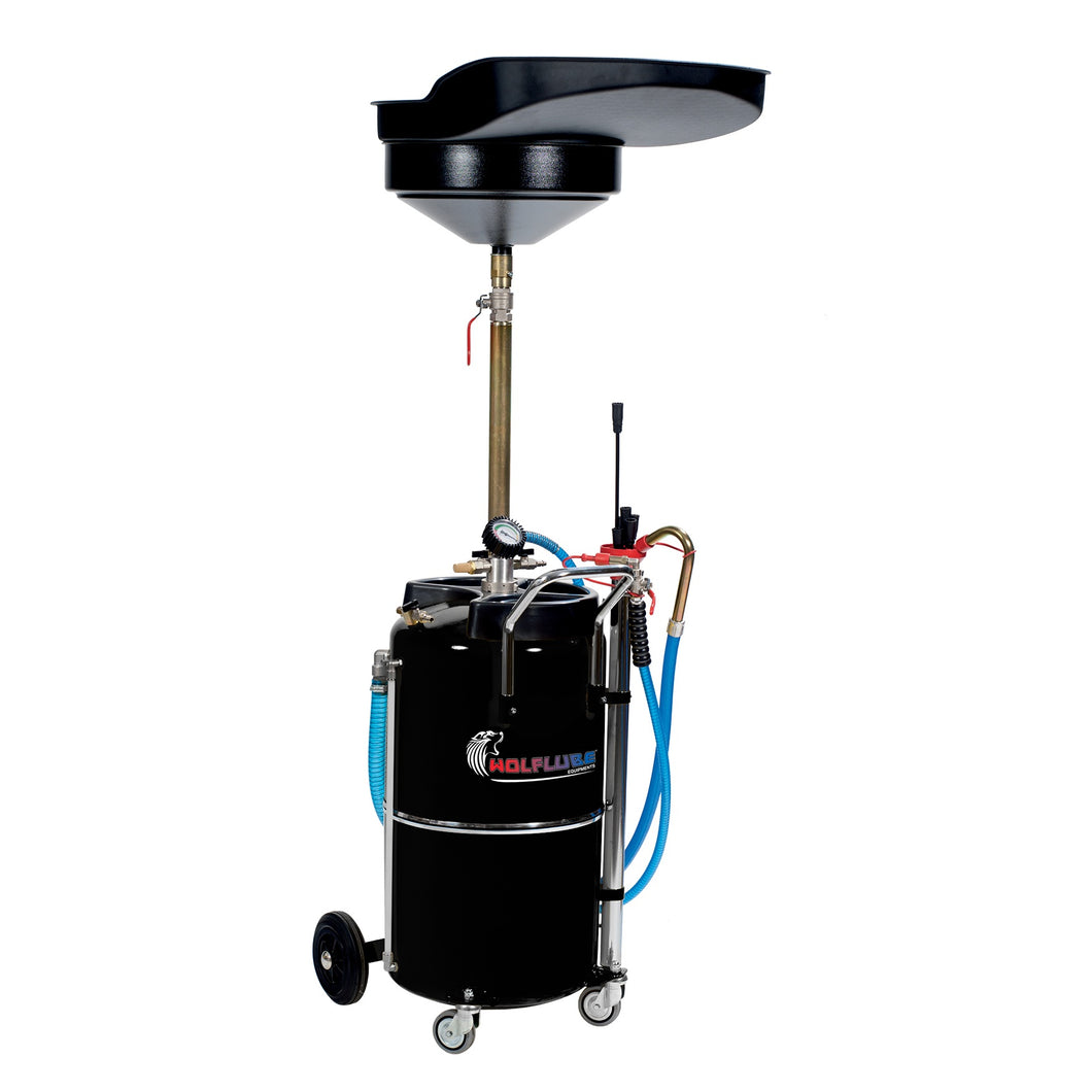 Wolflube Air-Operated Oil Suction-Drainer - 23 Gal Capacity