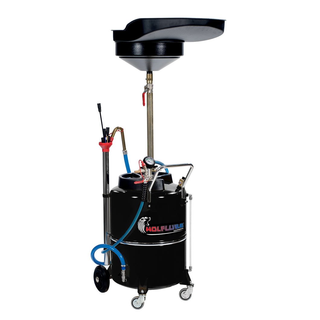 Wolflube Air-Operated Oil Suction-Drainer – 31 Gal Capacity