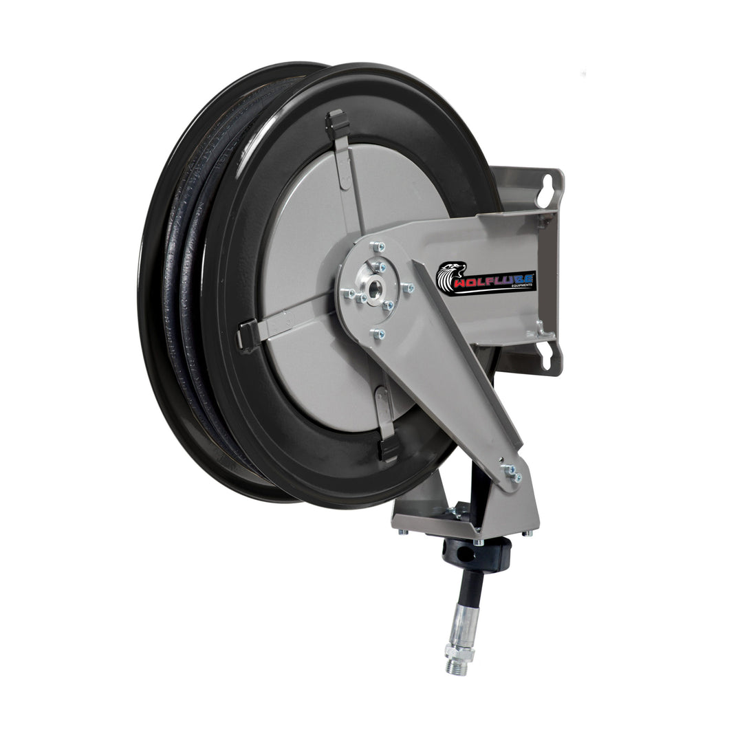 Wolflube Automatic Hose Reel for Oil- 1/2in - 60 ft Hose