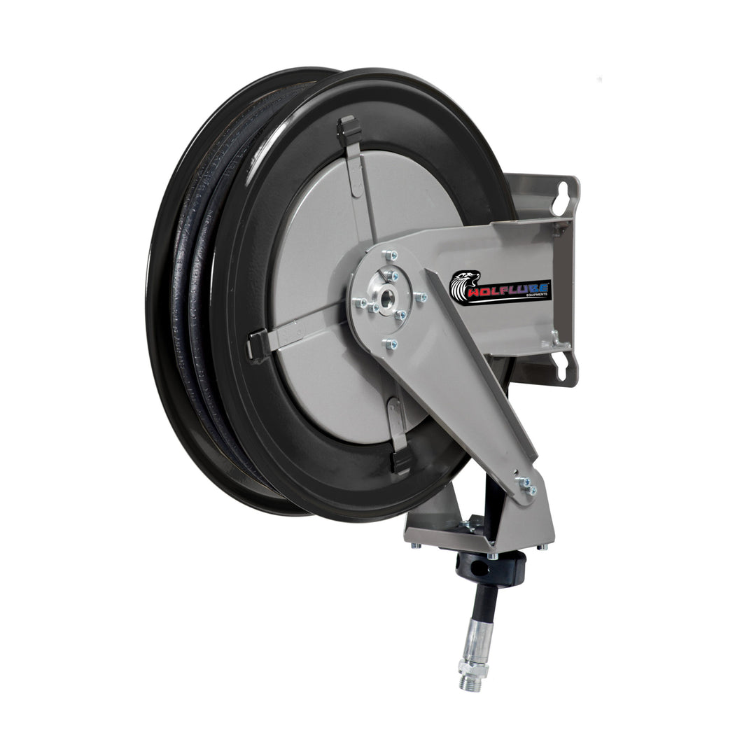 Wolflube Automatic Hose Reel for Oil- 1/2in - 80 ft Hose freeshipping - Empire Lube Equipment
