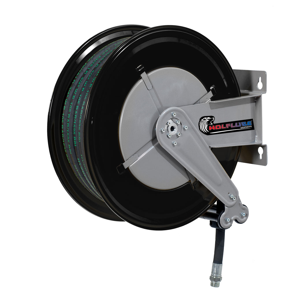 Wolflube Automatic Hose Reel for Oil- 3/4in - 65 ft Hose