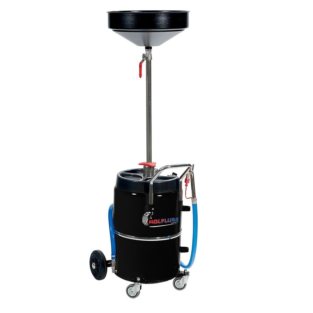 Wolflube Exhausted Oil Drainer - 17 Gal Capacity