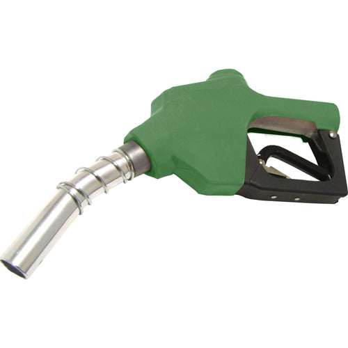 Wolflube Automatic Nozzle - 1in - for Fuel - Green