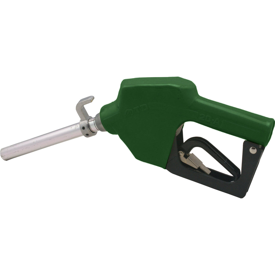 Wolflube Automatic Nozzle with Hook - 3/4in - for Fuel - Green