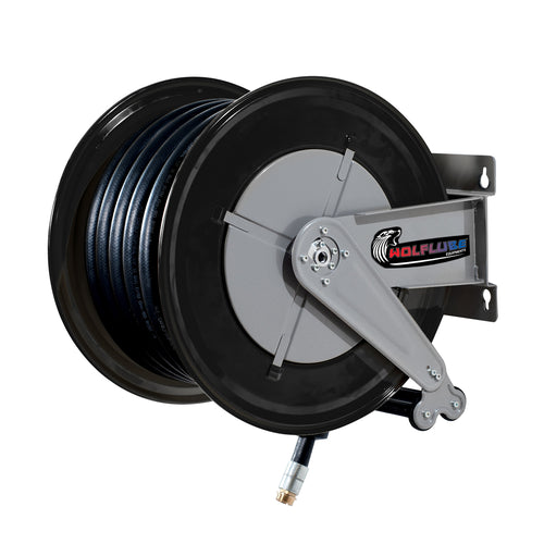 Wolflube Automatic Hose Reel for Diesel – 1in – 65 ft Hose