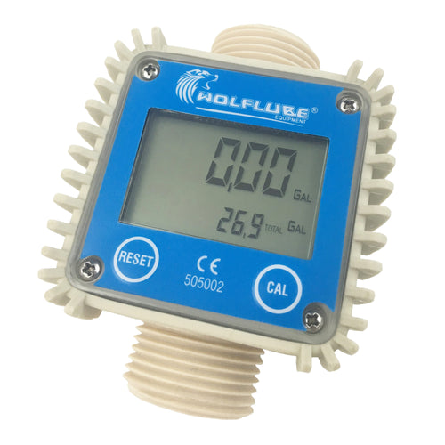 Wolflube Digital Flow Meter - Flow Rate up to 26 GPM