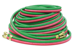 REELCRAFT 601031-25 1/4 dual x 25, 200 psi 9/16-18 LH/RH (F), Welding T-grade Hose Assembly