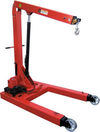 Norco 3 Ton Capacity Electro / Hydraulic Floor Crane - 78605A - Empire Lube Equipment