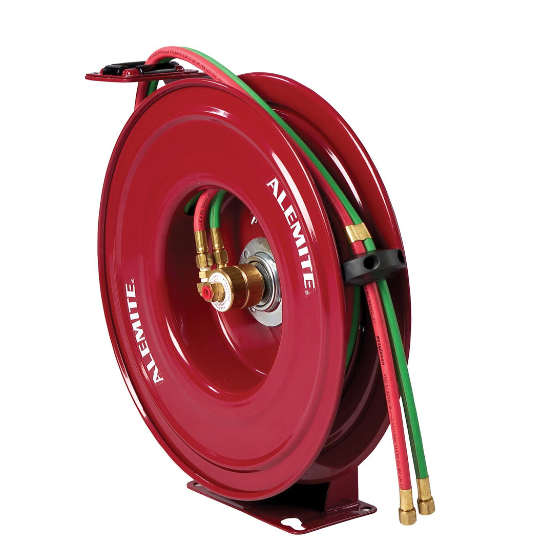 Alemite, 8071-B Oxygen/Acetylene Hose Reel with 339539-50 Hose freeshipping - Empire Lube Equipment