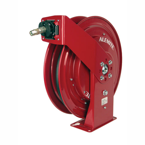 Alemite, 8078-C Maroon Heavy Duty Oil Hose Reel with 317813-30 Hose