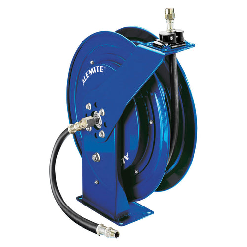 Alemite, 8078-DBL Blue Heavy Duty Oil Hose Reel with 317813-50 Hose