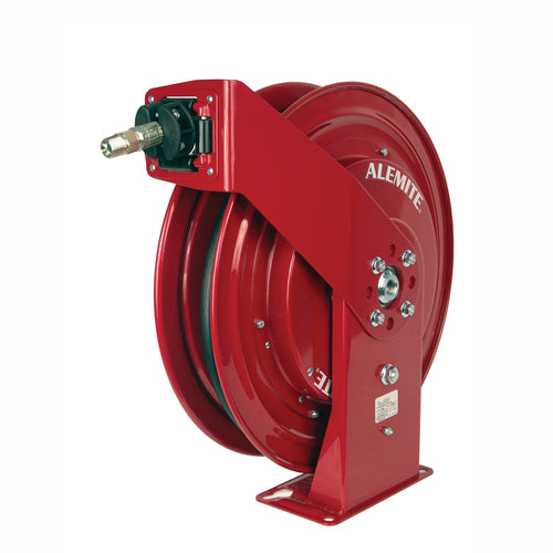 Alemite, 8078-B Maroon Heavy Duty Grease Hose Reel with 317874-50 Hose