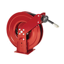 Alemite, 8081-A Narrow Double Post Grease Hose Reel with 317874-30 Hose freeshipping - Empire Lube Equipment