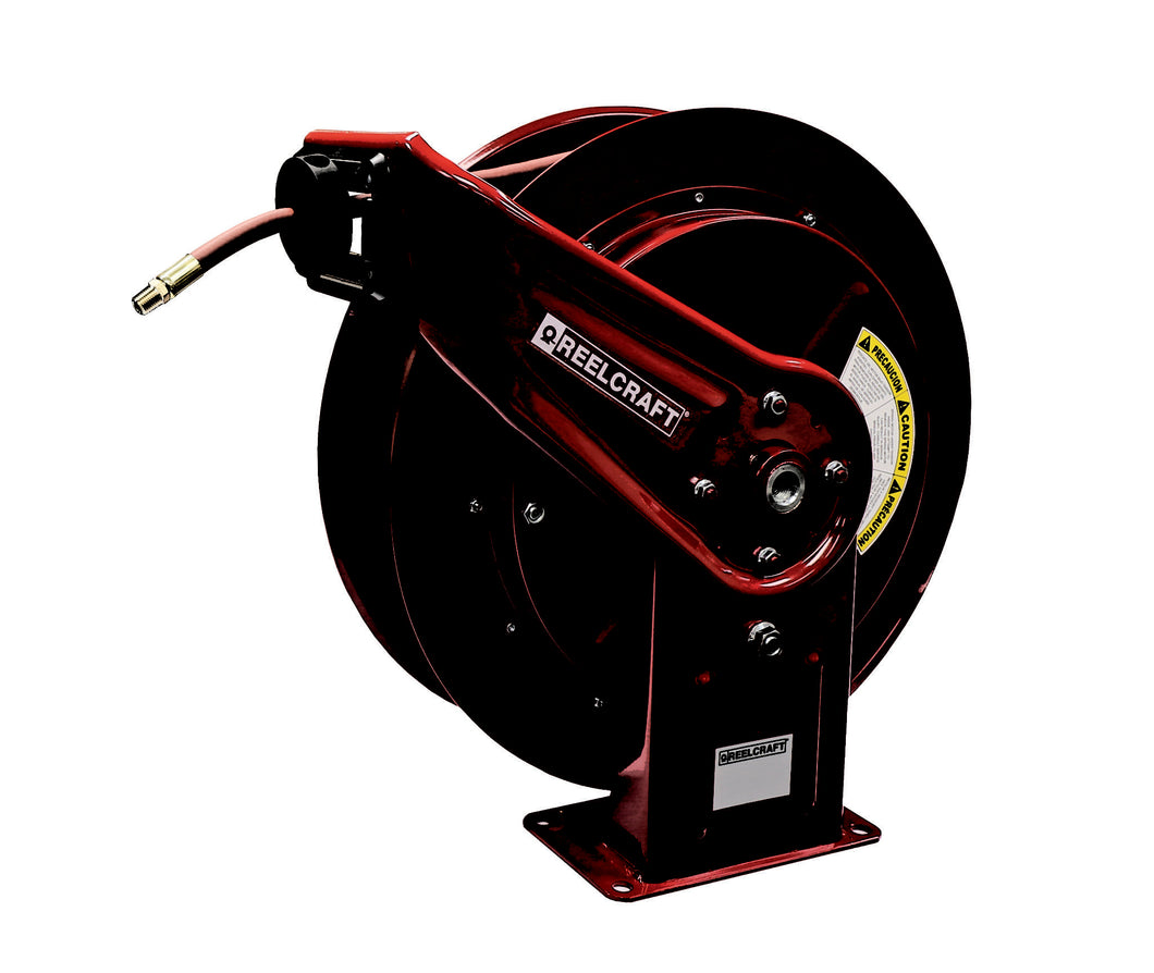 REELCRAFT HD76070 OLP 3/8 x 70ft, 300 psi, Air / Water Hose Reel with Hose
