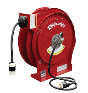 REELCRAFT L 5550 123 3B 12 AWG / 3 Cond  x 50ft, 20 AMP, Single Outlet, With Cord