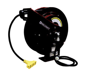L 70075 123 9 12 AWG / 3 Cond  x 75ft, 15 AMP, Tri-tap Outlet Cord Reel, With Cord
