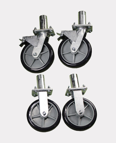 Rhino Tuff Tanks RTT-4740  8″ CASTER WHEEL KIT WITH ATTACHMENT LEGS