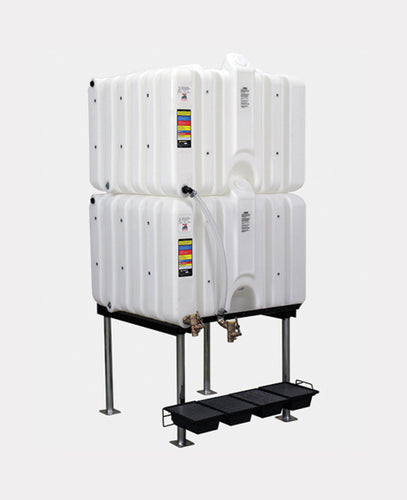 Rhino Tuff Tanks RTT-6220-NV 120/120 GALLON GRAVITY FEED TANK PACKAGE