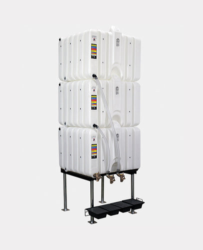 Rhino Tuff Tanks RTT-6222-NV 120/120/120 GALLON GRAVITY FEED TANK PACKAGE