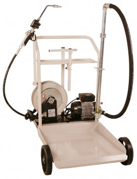 Liquidynamics Electric Oil Transfer Cart for 55 gallon Drums w/ 25' Hose Reel, System Includes: | P/N 51009C-S1