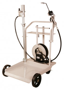 LiquiDynamics Mobile Heavy Duty Cart System for use with 55 gallon Drums w/ 25' Hose Reel | P/N 20094-S32
