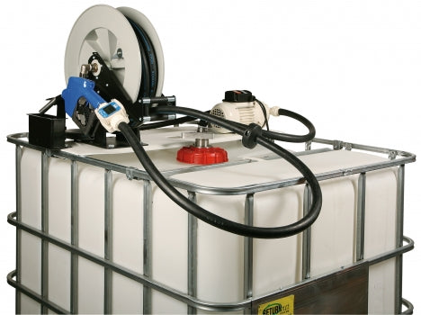 "LiquiDynamics 970027-02A Automatic 8 GPM DEF IBC Tote system w/ 3/4"" x 25 ft. Hose reel"