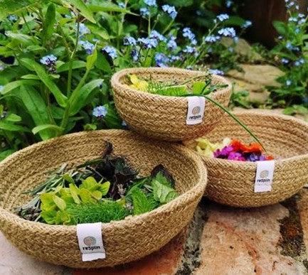 Jute Mini Bowl Set Natural