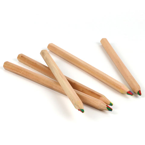 6 Eco-friendly 4-in-1-Rainbow Pencils