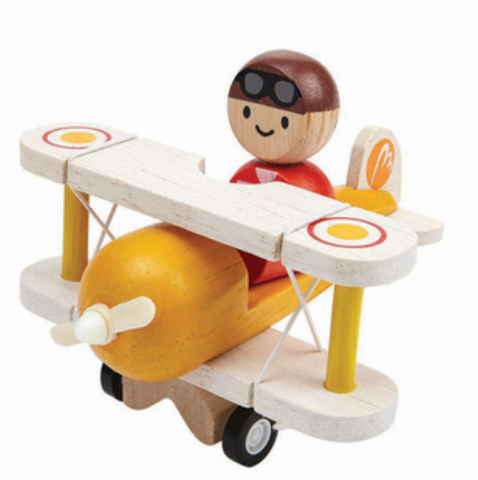 Wooden Airplane with Pilot by Plan Toys