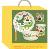 Bamboo Dinner Set Dinosaur by Petit Collage in Present Box