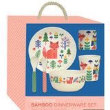 Bamboo Dinner Set Forest by Petit Collage in Present Box
