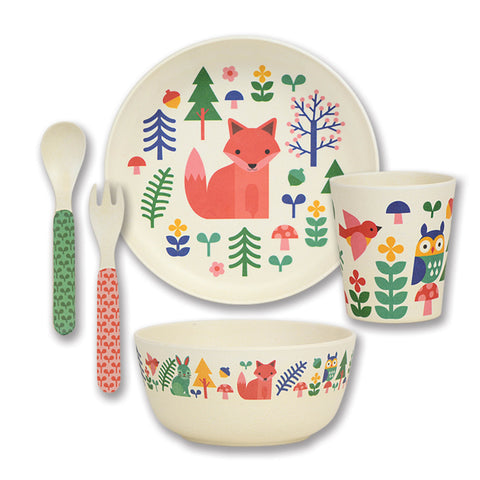 Bamboo Dinner Set Forest by Petit Collage