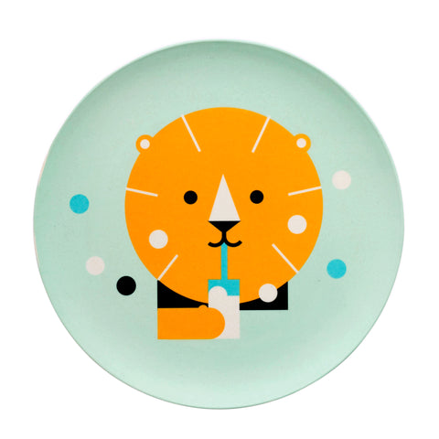 Bamboo Dinnerware Lion Plate by Makii