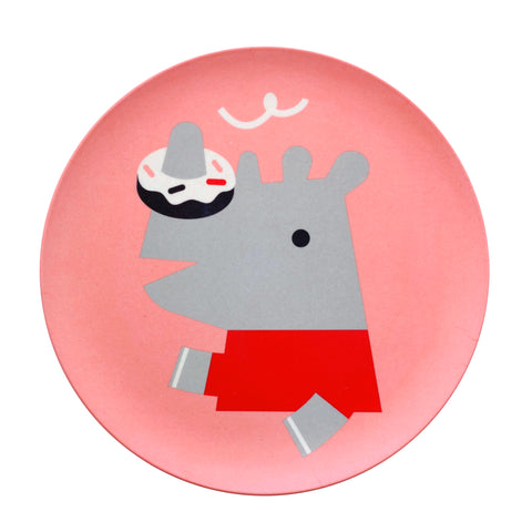 Bamboo Dinnerware Rhino Plate by Makii