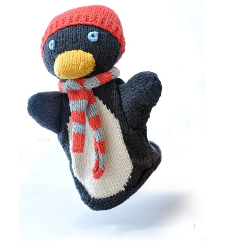 Organic Cotton Penguin Hand Puppet by Chunki Chilli