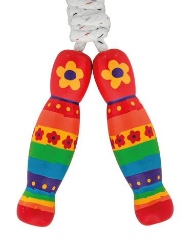 Rainbow Flowers Skipping Rope