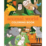 Eco-Friendly Animal World Colouring Book by Petit Collage