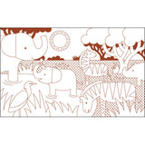Eco-Friendly Animal World Colouring Book by Petit Collage inside view