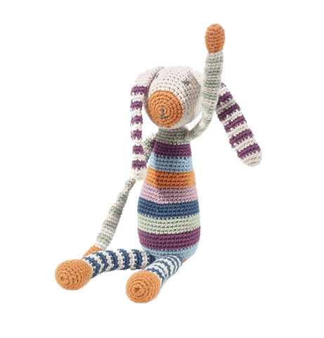 Striped Bunny Rattle