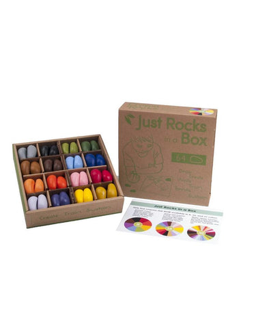 Just Rocks in a Box, 64 Crayon Rocks in 16 Colours