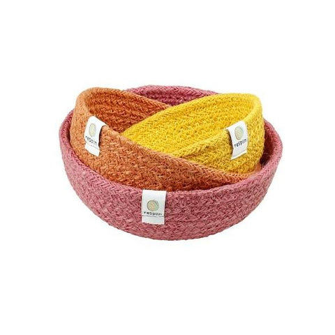Jute Mini Bowl Set Fire