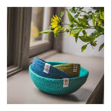 Jute Mini Bowl Set Blue