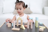 40 Unit Wooden Pastel Building Blocks with Child