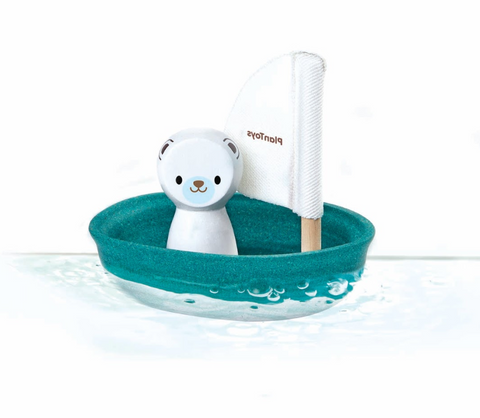 Sailing Polar Bear Bath Toy