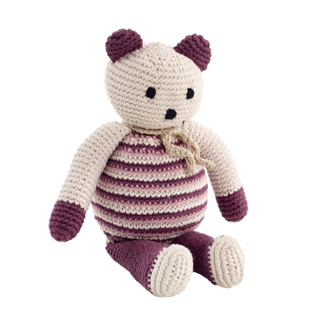 Purple Crochet Bear