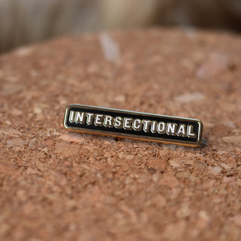 Intersectional feminist pin badge