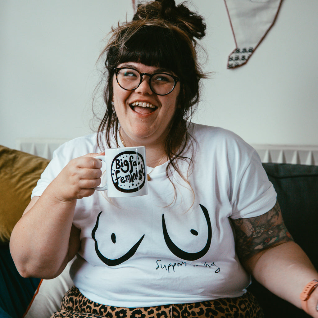 feminist boobs tshirt Milk & Moon
