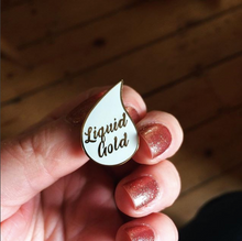 Liquid Gold , breastfeeding enamel pin