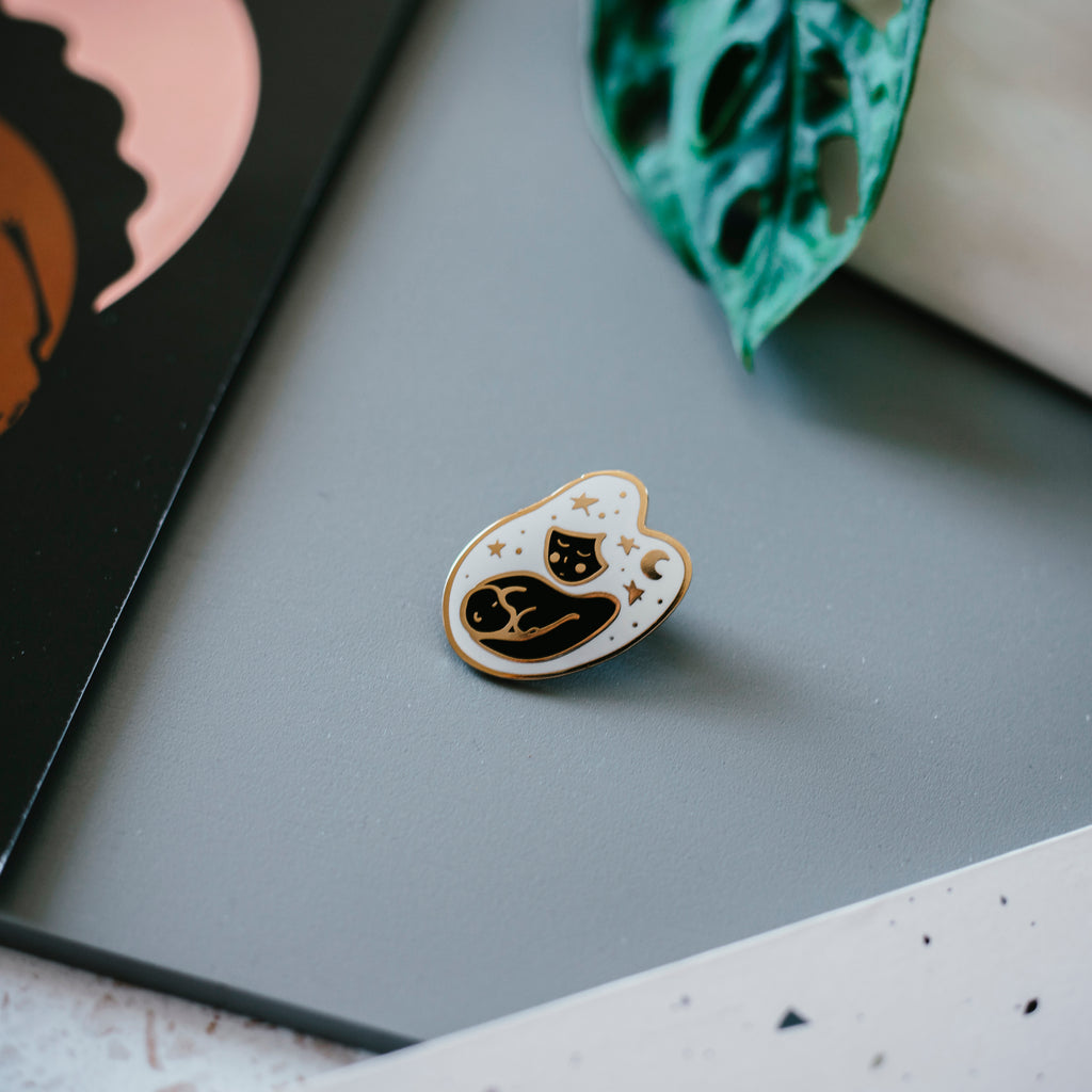 breastfeeding enamel pin