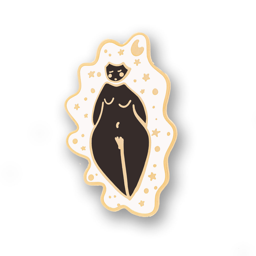 black space lady badge